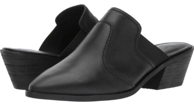 Item - Black Aldeen Leather Mules/Slides Size US 10.5 Regular (M, B)
