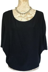 Vince Silk Top Navy Blue