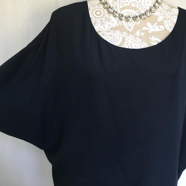 Vince Silk Top Navy Blue Image 1