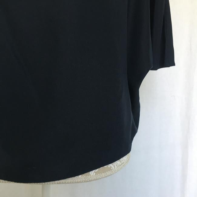 Vince Silk Top Navy Blue Image 2