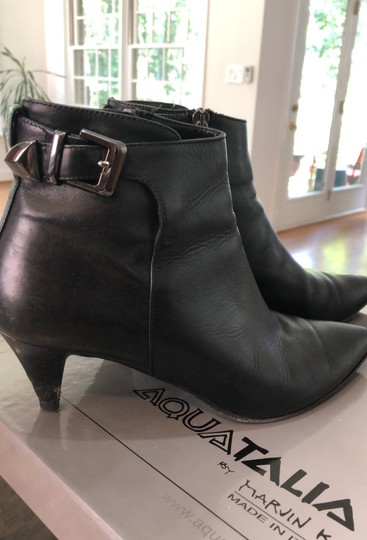 Aquatalia by Marvin K black waterproof leather Boots Image 1
