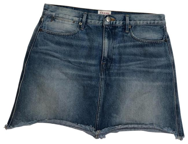 Preload https://img-static.tradesy.com/item/25820111/frame-blue-rerelease-rigid-denim-skirt-size-12-l-32-33-0-1-650-650.jpg