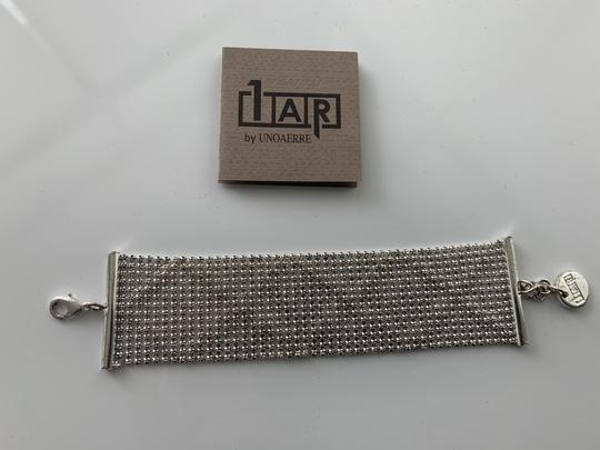 1AR by Unoaerre Silver/Gold Toned Italian Made Bracelet Image 1