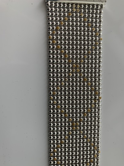 1AR by Unoaerre Silver/Gold Toned Italian Made Bracelet Image 2