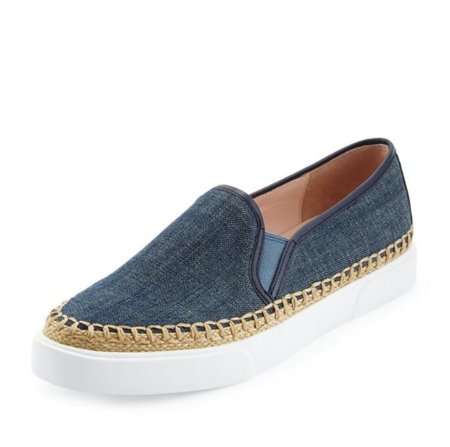 Item - Blue and White New York Cory Denim Slip-on Sneakers Size US 9 Regular (M, B)