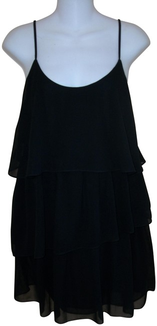 Preload https://img-static.tradesy.com/item/25820222/topshop-black-layered-spaghetti-strapped-short-cocktail-dress-size-2-xs-0-1-650-650.jpg