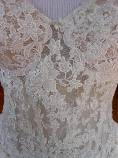 Pronovias Ivory/Champagne Diva Destination Wedding Dress Size 12 (L) Image 5