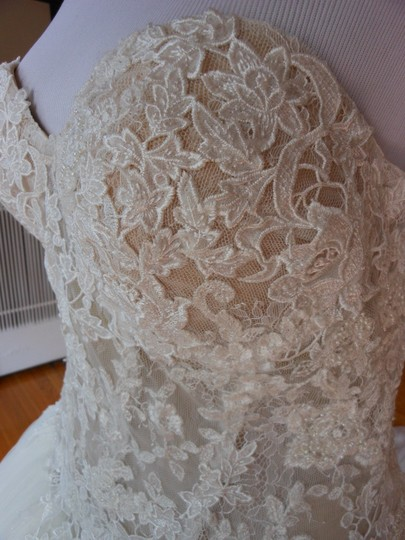 Pronovias Ivory/Champagne Diva Destination Wedding Dress Size 12 (L) Image 6