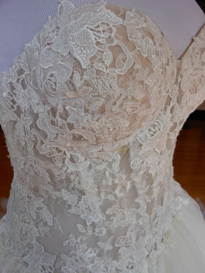 Pronovias Ivory/Champagne Diva Destination Wedding Dress Size 12 (L) Image 7
