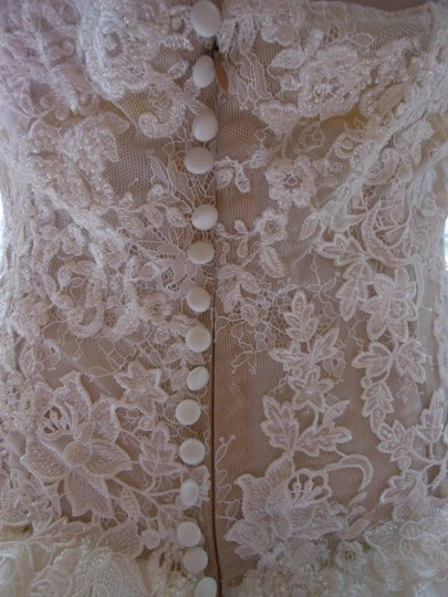 Pronovias Ivory/Champagne Diva Destination Wedding Dress Size 12 (L) Image 9