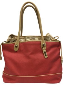 Cole Haan Tote in red and tan