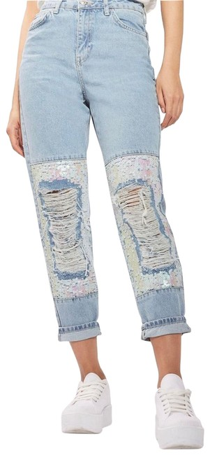 Preload https://img-static.tradesy.com/item/25820259/topshop-moto-ripped-sequin-knee-sz26-relaxed-fit-jeans-size-26-2-xs-0-1-650-650.jpg