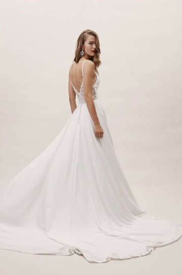 BHLDN Ivory Polyester Polyester Lining Beloved Gown Casual Wedding Dress Size 10 (M) Image 1
