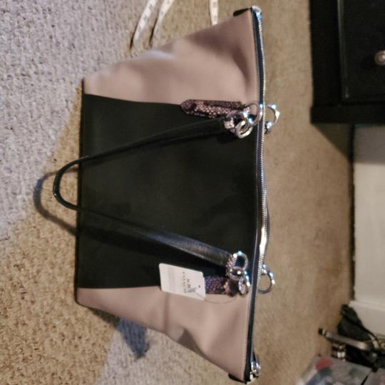 Coach Tote in Black, snake, and tan Image 3