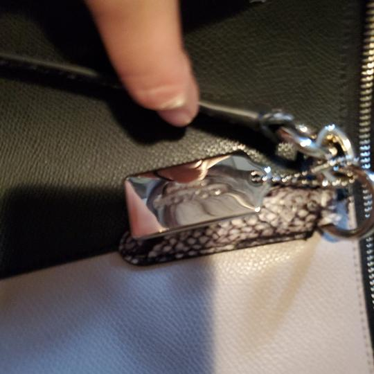 Coach Tote in Black, snake, and tan Image 6