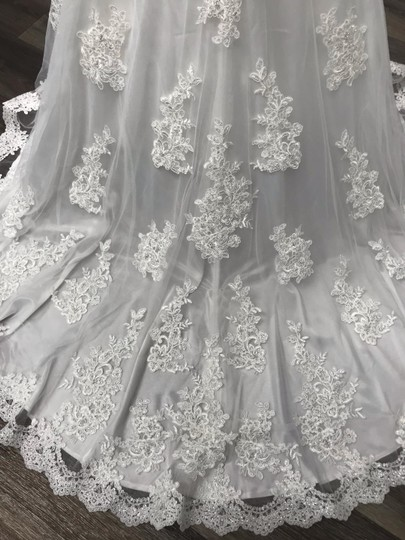 Mori Lee Ivory Traditional Wedding Dress Size 12 (L) Image 6