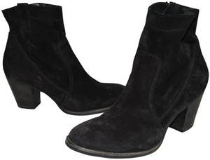 Paul Green Moto Platform BLACK NUBUCK Boots