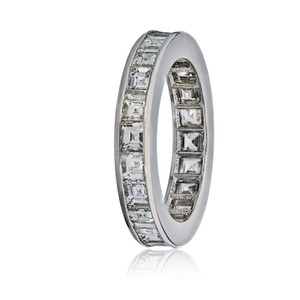 Other Asscher Cut Square Emerald Diamond Eternity Band 3.87cts