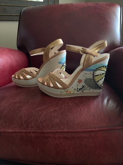 Coach Tan Wedges Image 1