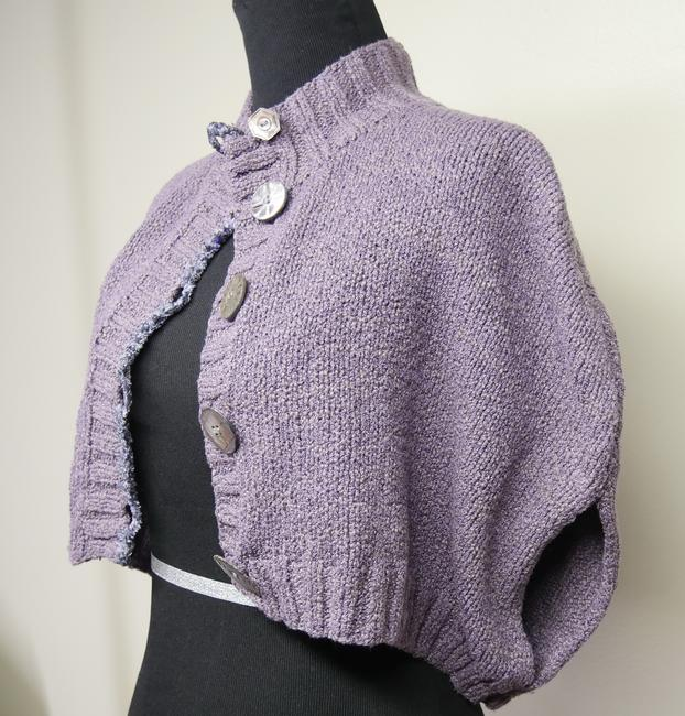 Mon Tricot Poncho Sweater Mother Of Pearl Vintage Handmade Cardigan Image 1