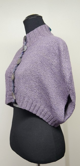 Mon Tricot Poncho Sweater Mother Of Pearl Vintage Handmade Cardigan Image 2