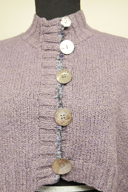 Mon Tricot Poncho Sweater Mother Of Pearl Vintage Handmade Cardigan Image 5