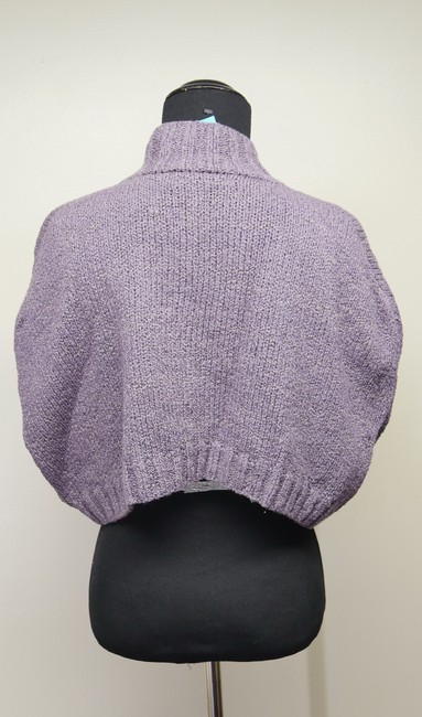 Mon Tricot Poncho Sweater Mother Of Pearl Vintage Handmade Cardigan Image 6