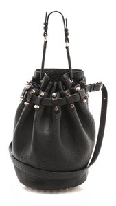 Alexander Wang Bucketbag Leather Studded Satchel in Black