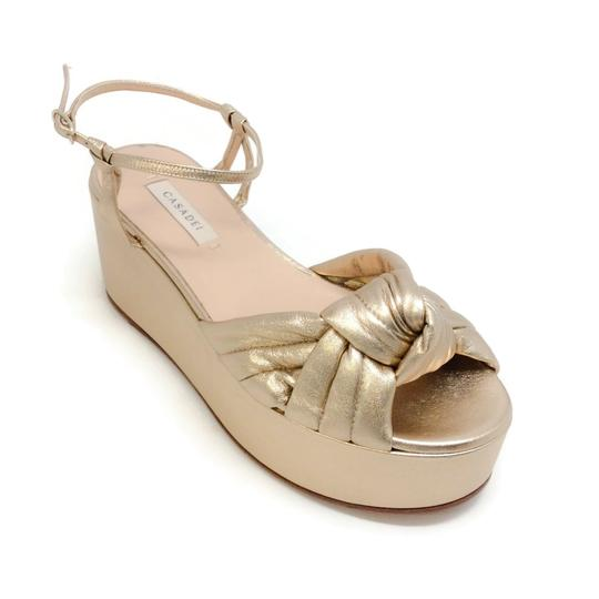Casadei Gold Sandals Image 0