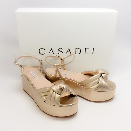 Casadei Gold Sandals Image 8