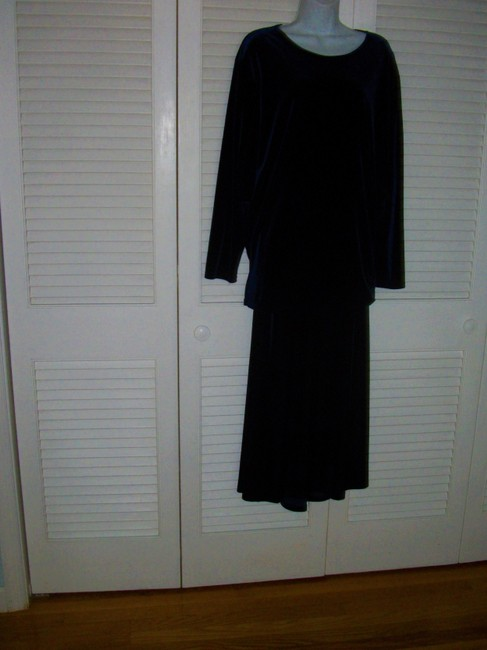 Linda Leal 2pc Long Skirt Tunic Top Special Occasion Dress Image 1