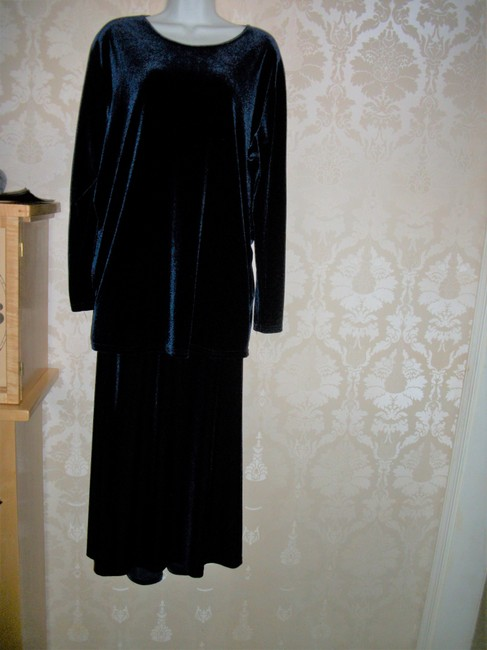 Linda Leal 2pc Long Skirt Tunic Top Special Occasion Dress Image 3