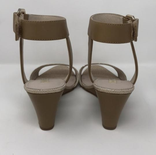 Louise et Cie Tan and Gold Wedges Image 3