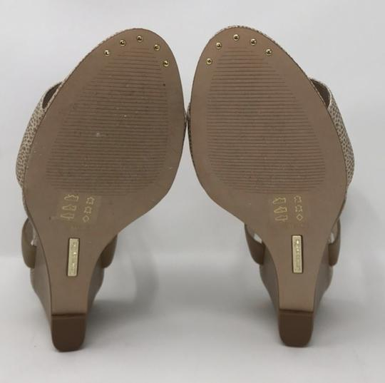 Louise et Cie Tan and Gold Wedges Image 4