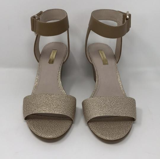 Louise et Cie Tan and Gold Wedges Image 6