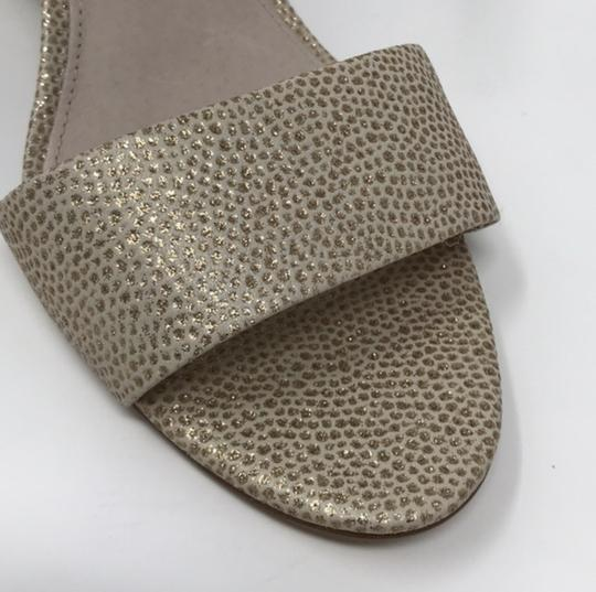Louise et Cie Tan and Gold Wedges Image 7