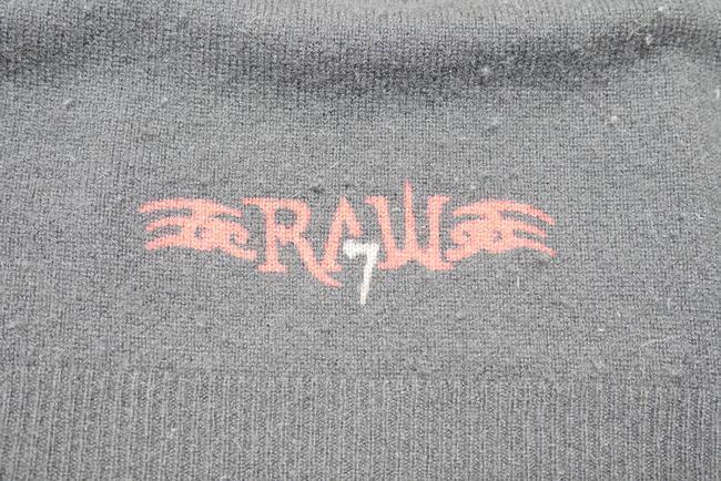Raw7 Graphic Jacket Cashmere Sweater Cardigan Sweatshirt Image 6