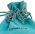 Tiffany & Co. Paloma Picasso Silver Round Zellige Dangle Earrings Image 0