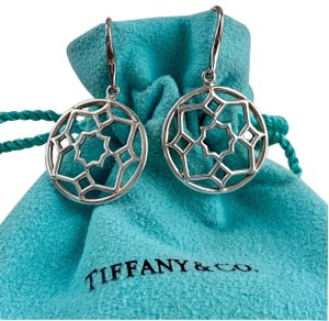 Tiffany & Co. Paloma Picasso Silver Round Zellige Dangle Earrings