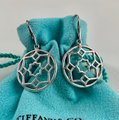 Tiffany & Co. Paloma Picasso Silver Round Zellige Dangle Earrings Image 1