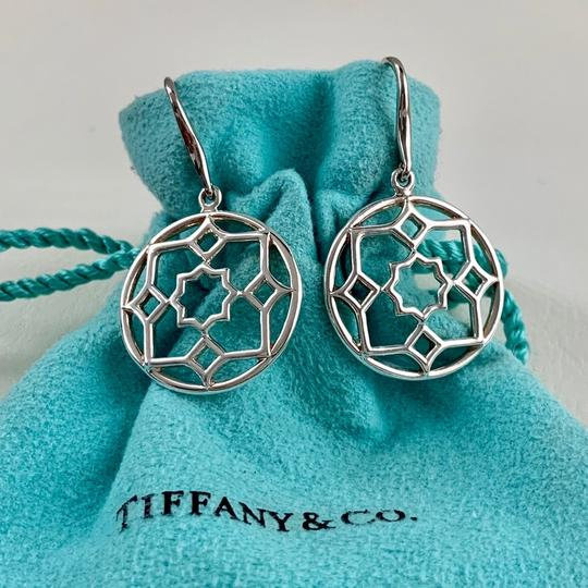 Tiffany & Co. Paloma Picasso Silver Round Zellige Dangle Earrings Image 2