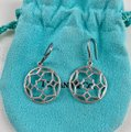 Tiffany & Co. Paloma Picasso Silver Round Zellige Dangle Earrings Image 4
