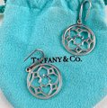 Tiffany & Co. Paloma Picasso Silver Round Zellige Dangle Earrings Image 6