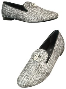 Chanel Silver Flats