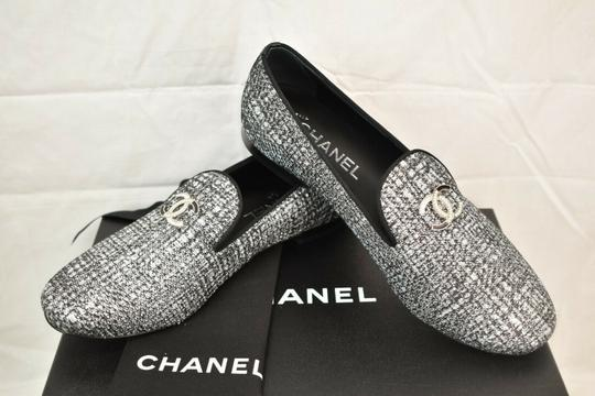 Chanel Silver Flats Image 2