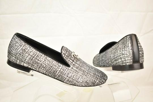 Chanel Silver Flats Image 9