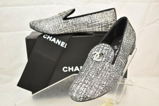 Chanel Silver Flats Image 1
