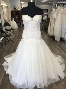 House of Wu Ivory Private Collection Traditional Wedding Dress Size 14 (L)