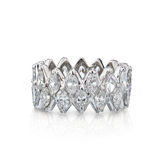 Other Marquise Cut Diamond Eternity Wedding Band 7.50cts Image 0