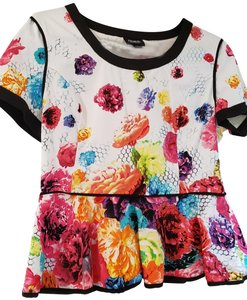 Prabal Gurung for Target Limited Edition Peblum Floral Crush Pretty Summer Top multi color